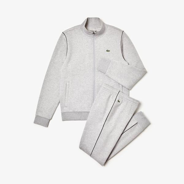 Lacoste Sport Men's Piped Fleece Sweatsuit