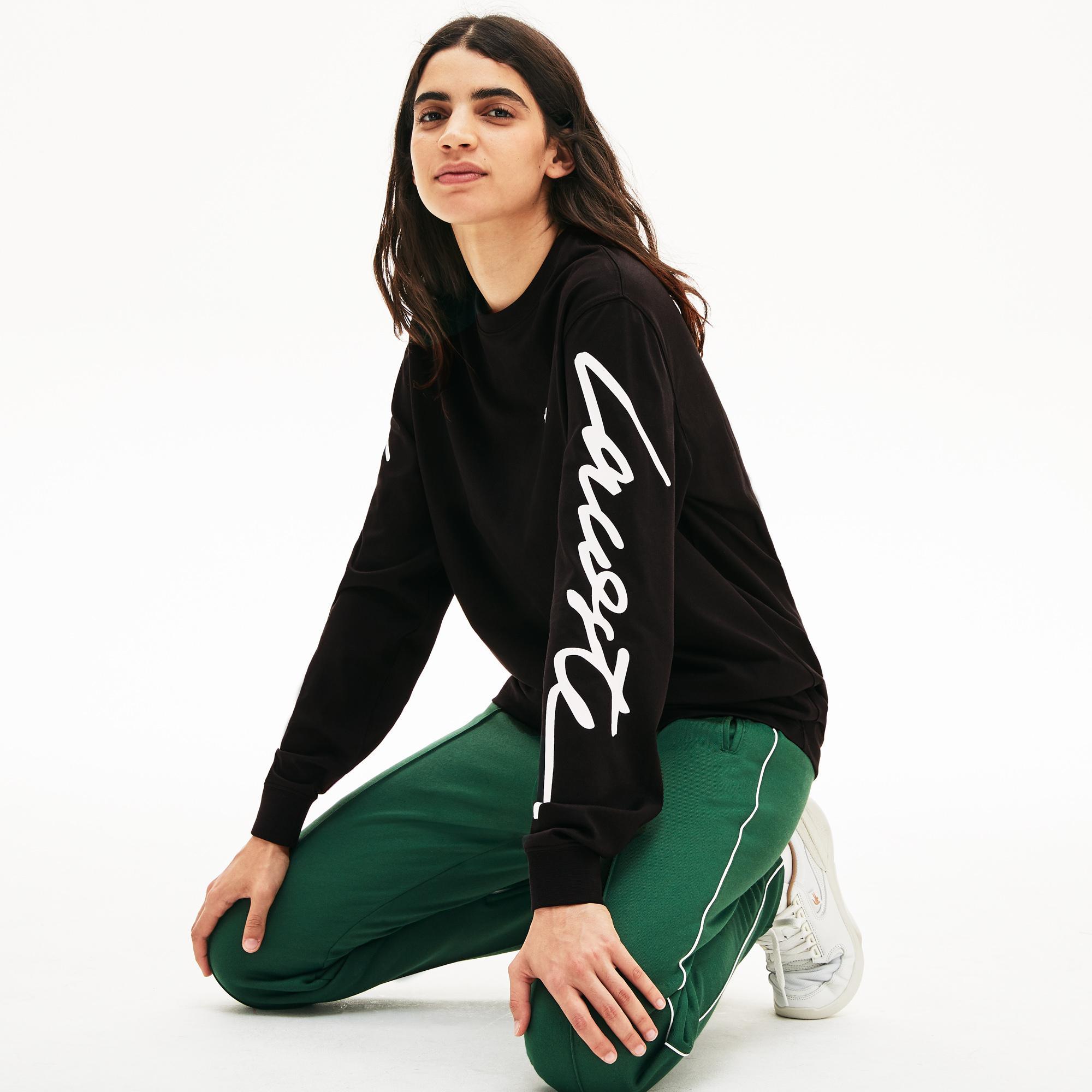 Lacoste L!VE Signature Unisex Print T-Shirt