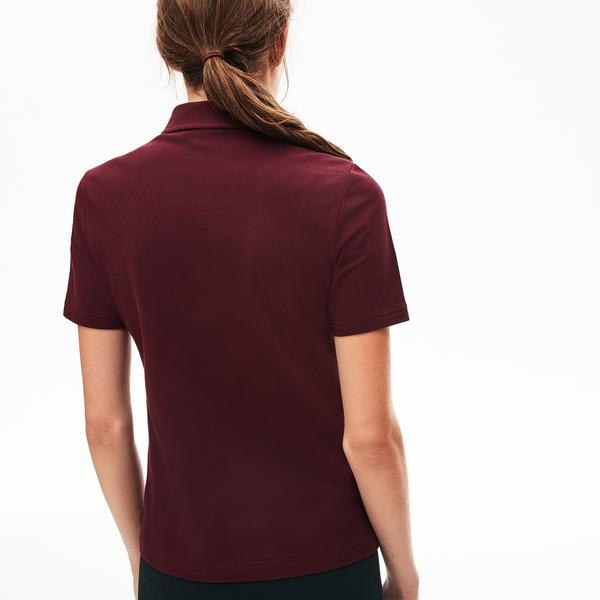 Lacoste LIVE Women's Slim Fit Embroidered Collar Stretch Polo Shirts