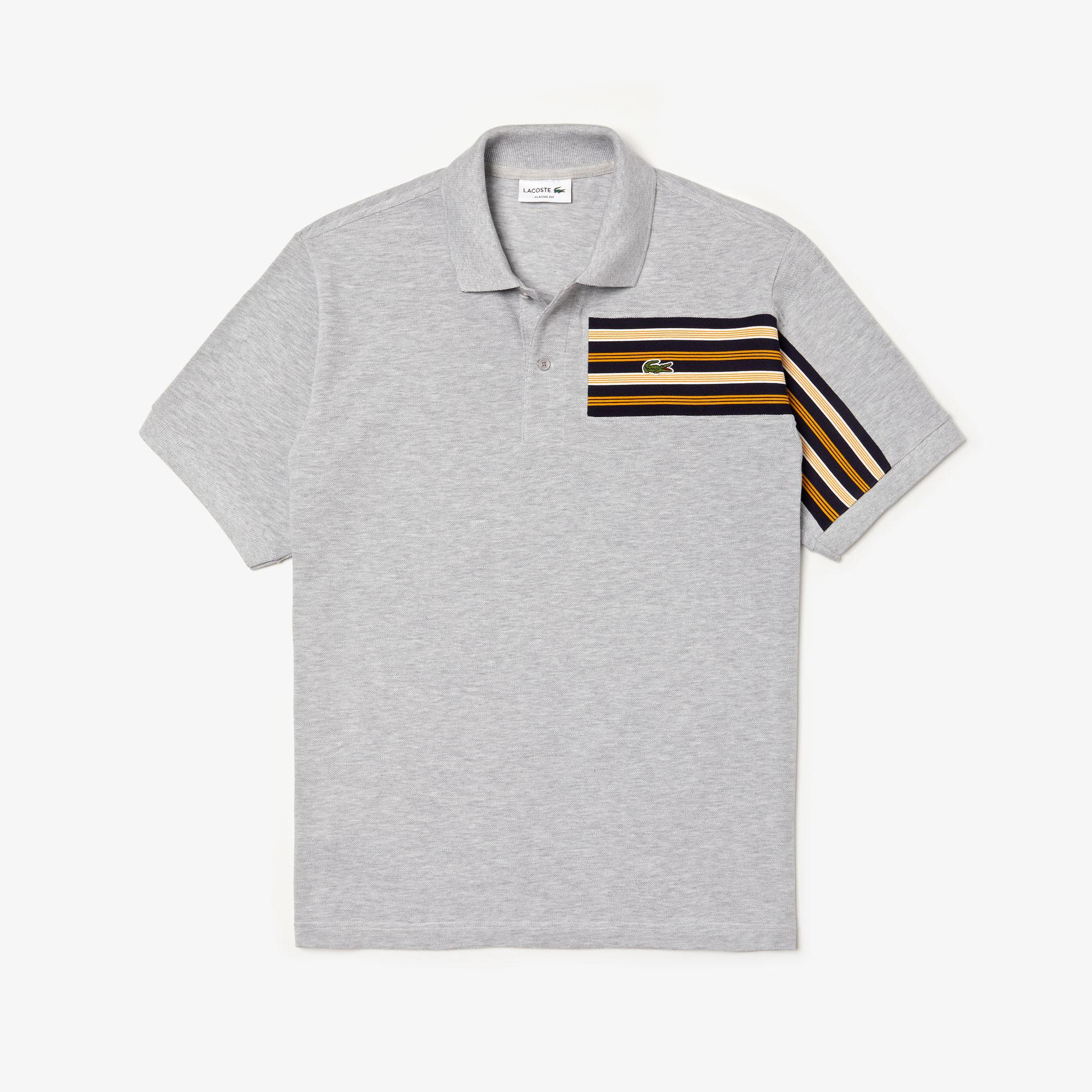 Lacoste Men's L.12.12 Striped Panel Cotton Piqué Polo Shirt
