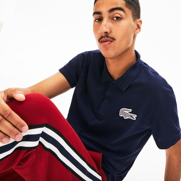 Lacoste Men's Regular Fit Check Croc Badge Piqué Polo Shirt