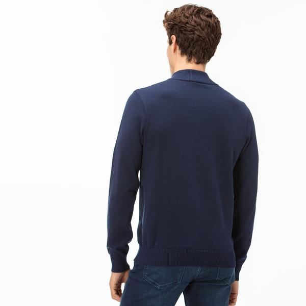 Lacoste Men's Recycled Cashmere Turtleneck Sweater