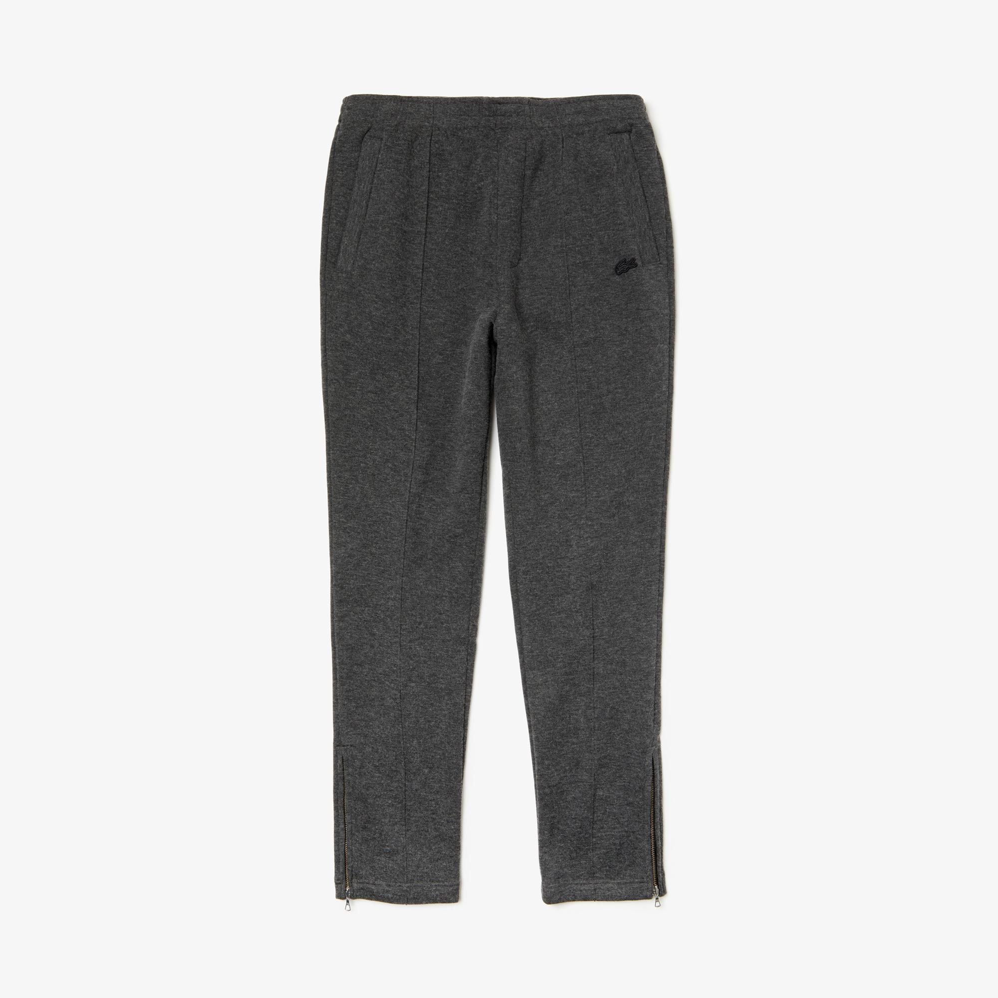 Lacoste Men's Cotton And Wool Blend Fleece Sweatpants