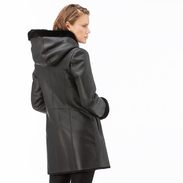 Lacoste Women's Leather Coat