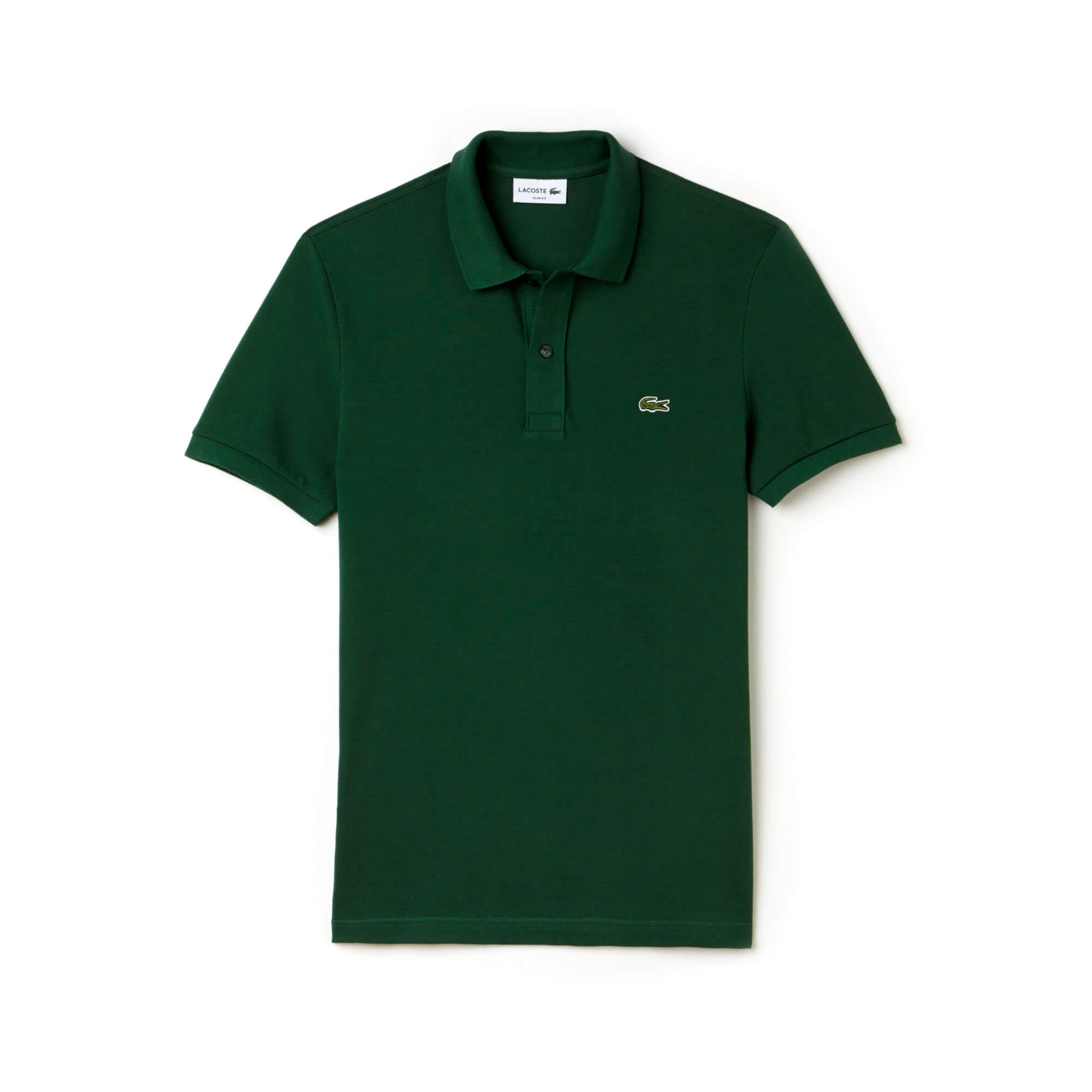 Lacoste Men's Slim Fit Lacoste Polo Shirts in Petit Piqué