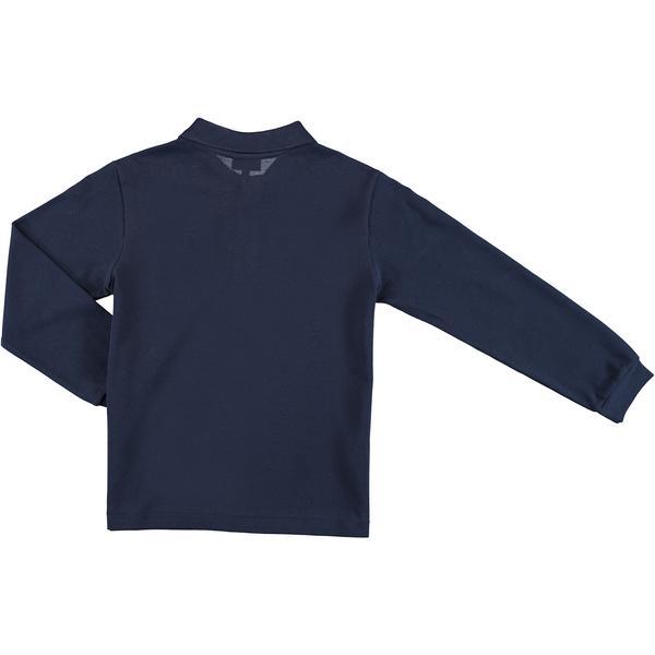 Kids' Long-Sleeved Cotton Piqué Polo