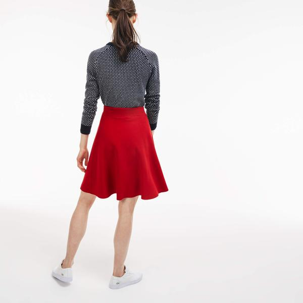 Lacoste Women's L!VE Milano Cotton A-Line Skirt