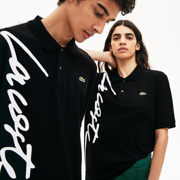 Unisex Lacoste LIVE Loose Fit Signature Cotton Piqué Polo Shirt