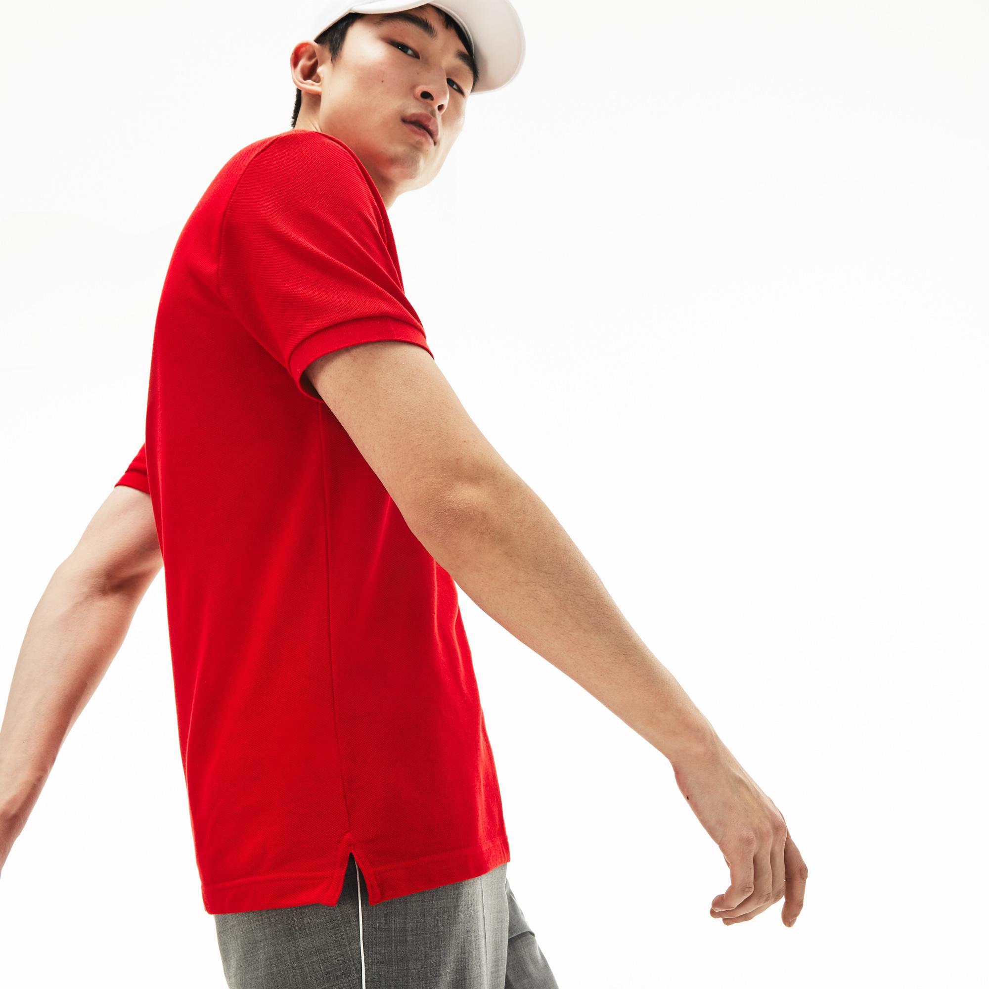 Lacoste Men's Slim Fit Lacoste Polo Shirt in Petit Piqué