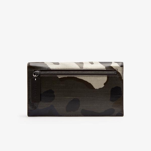 Lacoste Women's Robert George Coated Print Canvas Wallet