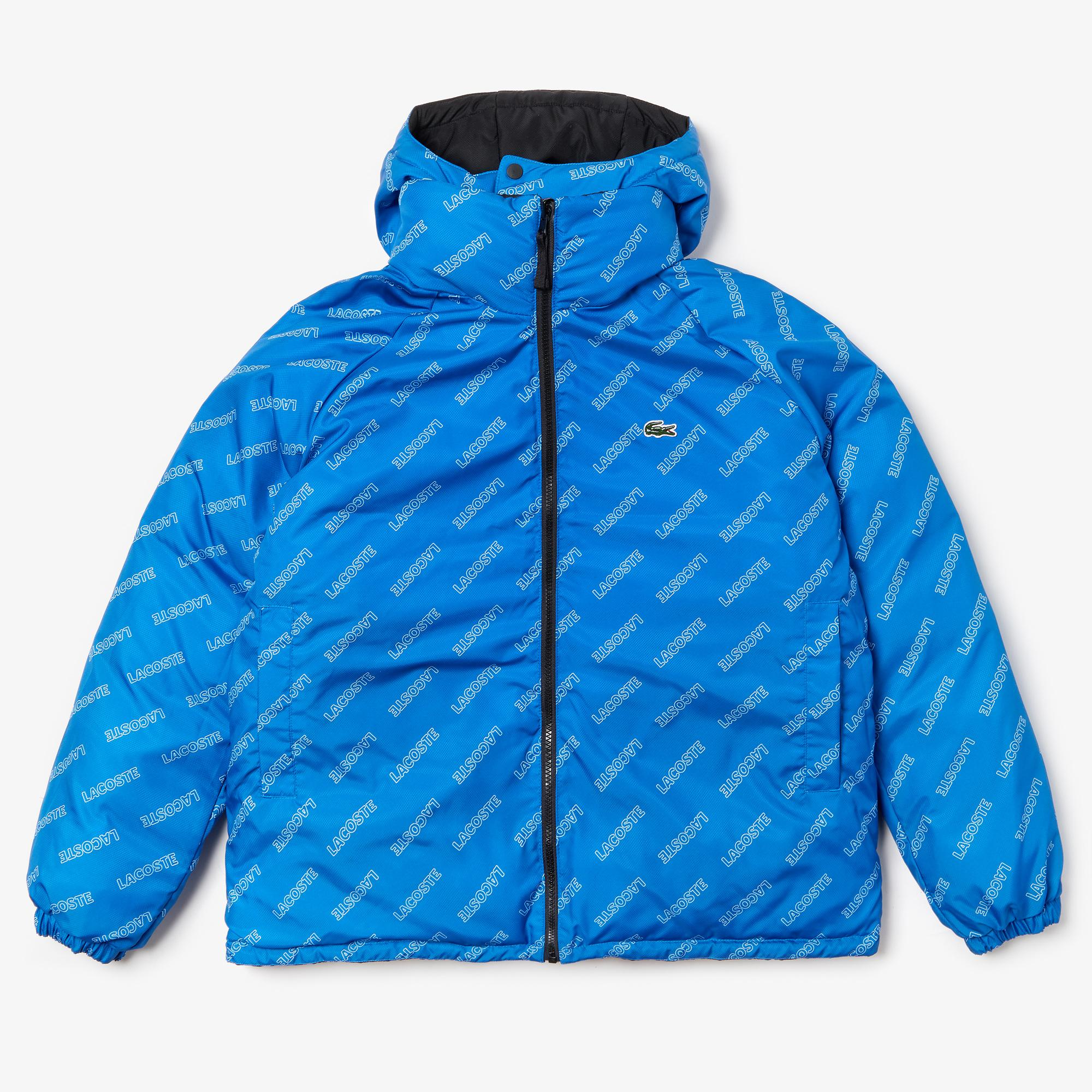 Lacoste L!VE Men's Print Lining Short Reversible Quilted Jacket