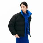 Lacoste L!VE Women's Print Lining Short Reversible Quilted Jacket