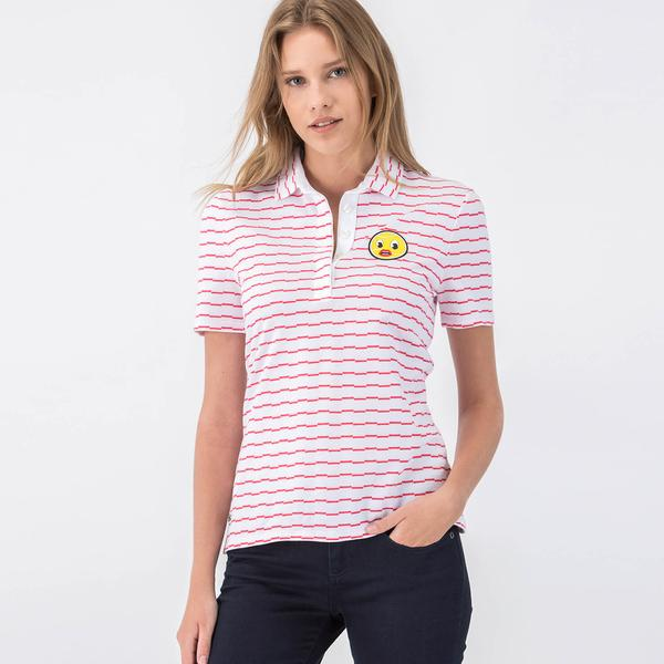 Lacoste Women's Yazbukey Edition Offbeat Stripe Jacquard Polo