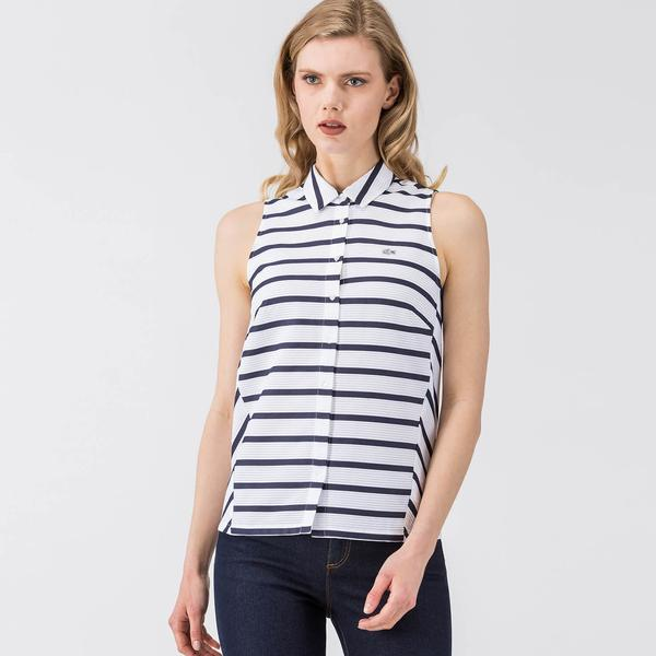 Lacoste L!VE Women's Striped Poplin Shirt