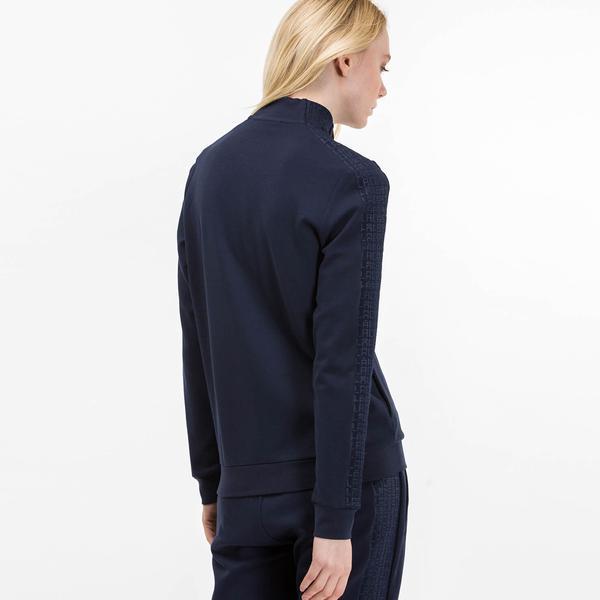 Lacoste Women's SPORT Tennis Zippered Two-Ply Sweatshirt