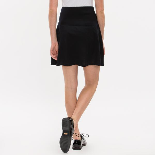 Lacoste Women's Wool Jersey Flare Sweater Skirt