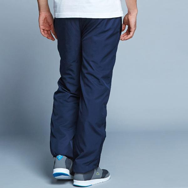 Lacoste Men's Sport Tennis Trackpants İn Diamond Weave Taffeta