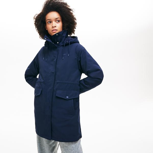 Lacoste Women's 3-In-1 Detachable Quilted Jacket And Hooded Cotton Parka