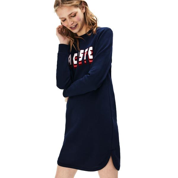 Lacoste Women's 3D-Lettering Fleece Sweatshirt Dress