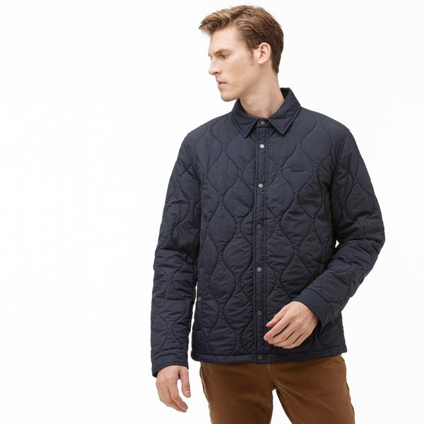 Lacoste Men's Lightweight Collapsible Snap Quilted Jacket