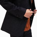 Lacoste Men's Straight Cut Check Stretch Flannel Blazer