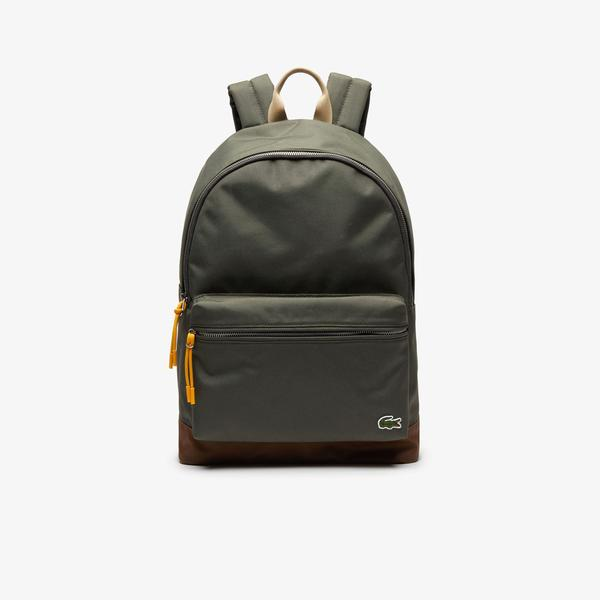 Lacoste Men's Neocroc Contrast Accents Canvas Backpack
