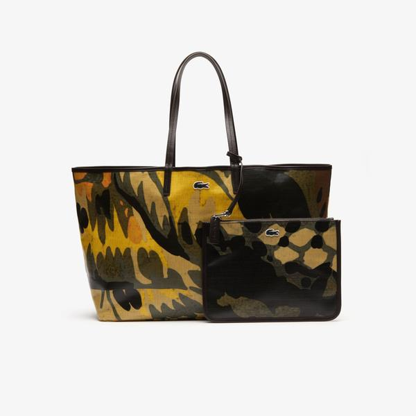 Lacoste Women's Robert George Large Coated Print Canvas Tote Bag