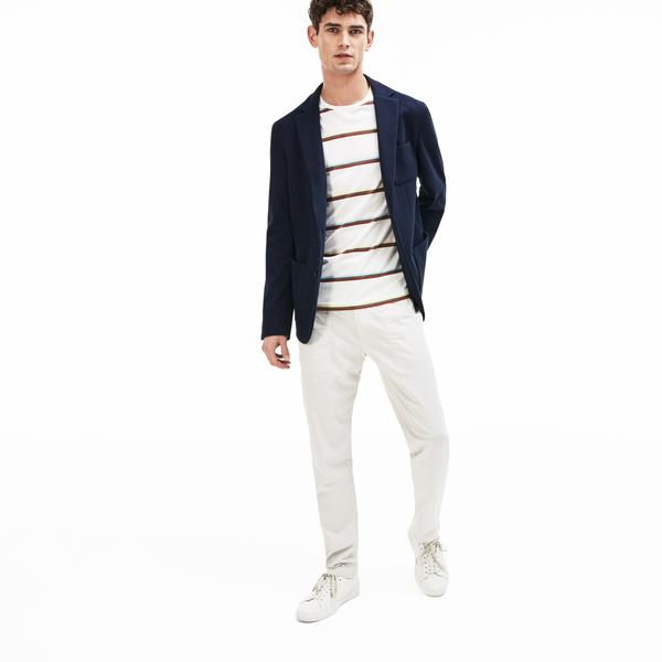 Lacoste Men's Stretch Cotton Jersey Piqué Blazer