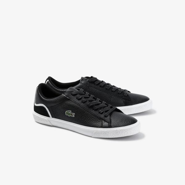 Lacoste Men's Lerond Tumbled Leather And Synthetic Sneakers