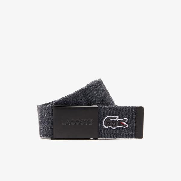 Lacoste Men's Embroidered Crocodile Belt