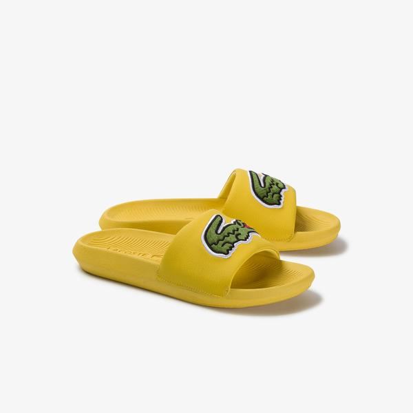 Lacoste Women's Croco Synthetic And Pu Slides