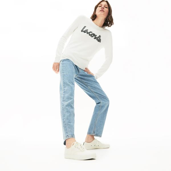 Lacoste Women's Cotton Crew Neck Sweater