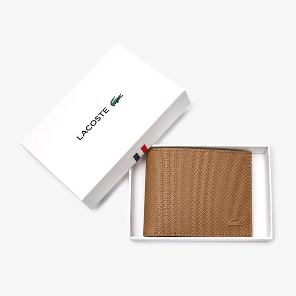 Lacoste Men's Chantaco Piqué Leather 3 Card Wallet