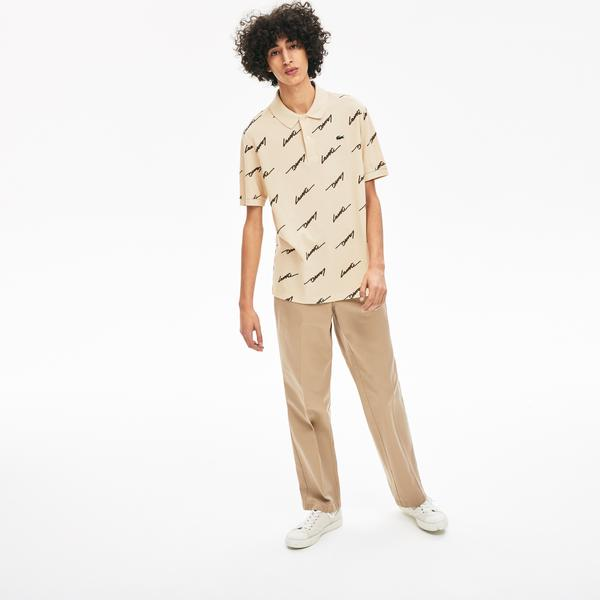 Lacoste Men's L!VE Standard Fit Print Cotton Piqué Polo