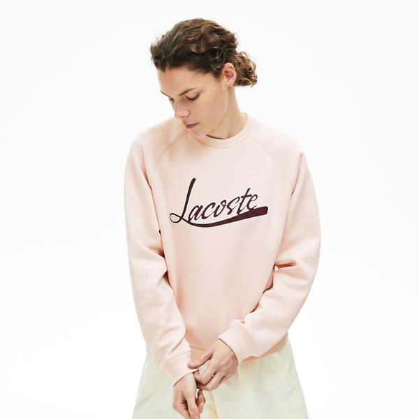 Lacoste Women's Signature Print Crew Neck Sweatshirt