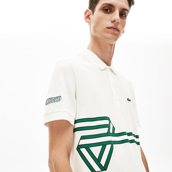 Lacoste Men's Stripe Print Polo Shirt