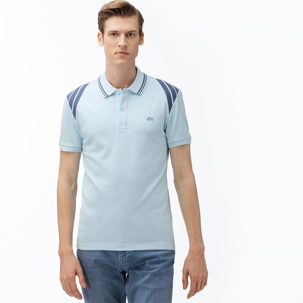 Lacoste Men's Slim Fit Block Striped Polo