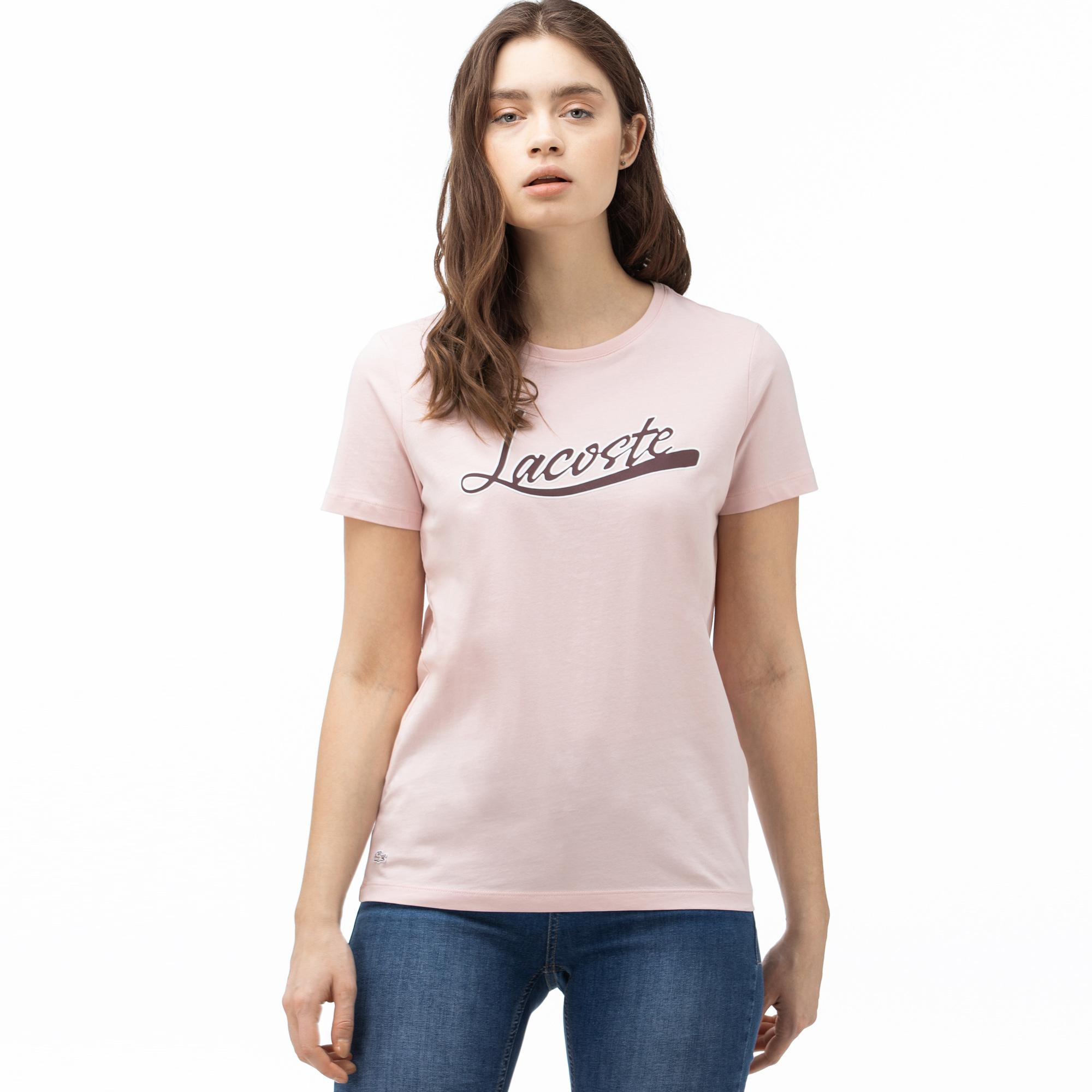 Lacoste Women's Boat Neck Graphic T-Shirt