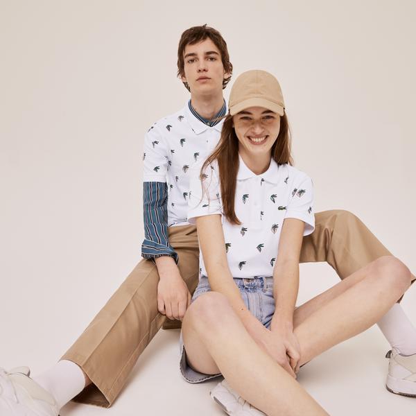 Lacoste Unisex x Jean-Michel Tixier Print Regular Fit Polo Shirt