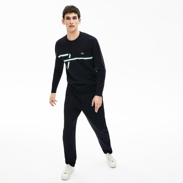 Lacoste Men's Band Design Heritage Knit Sweater