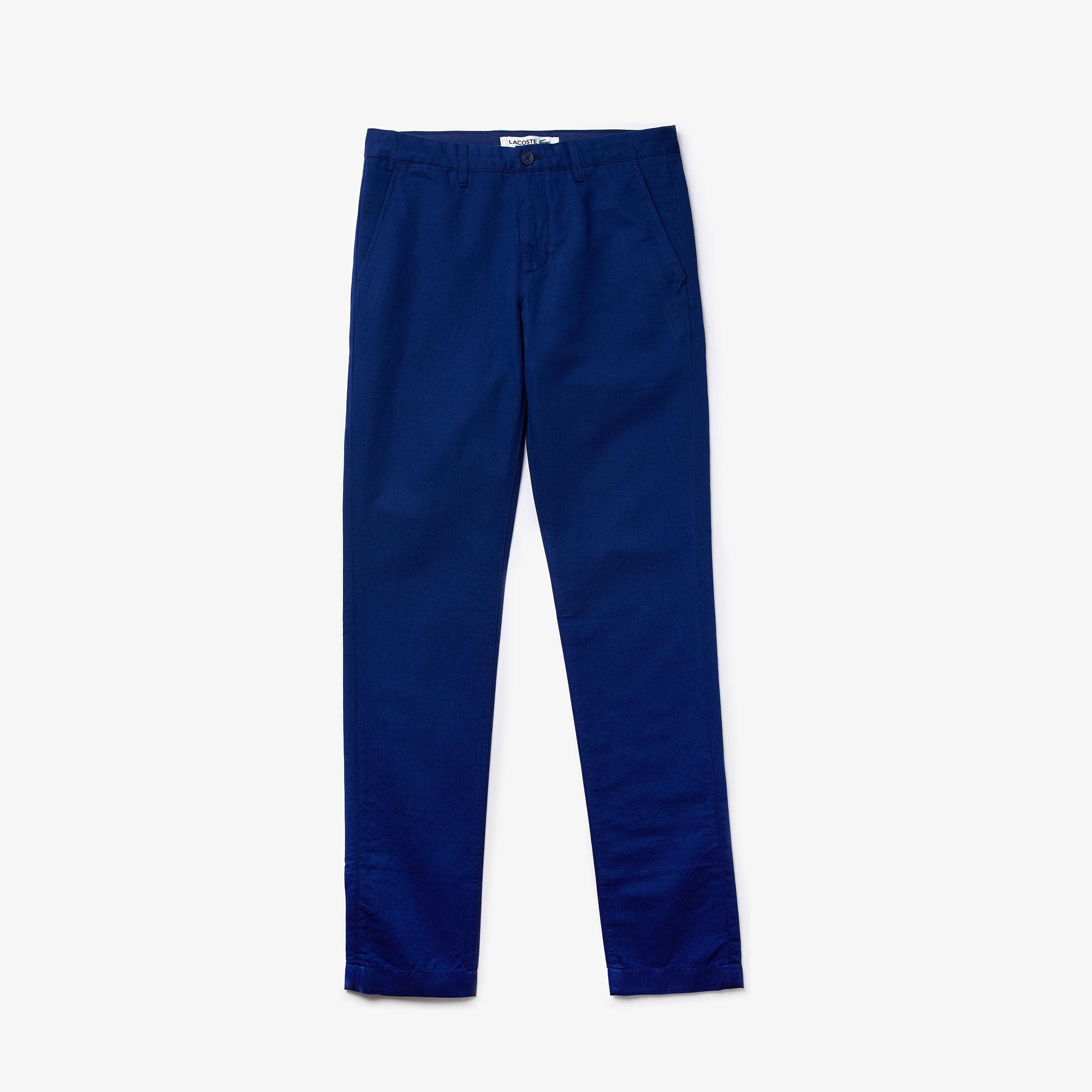 Lacoste Men's Cotton-Linen Chinos