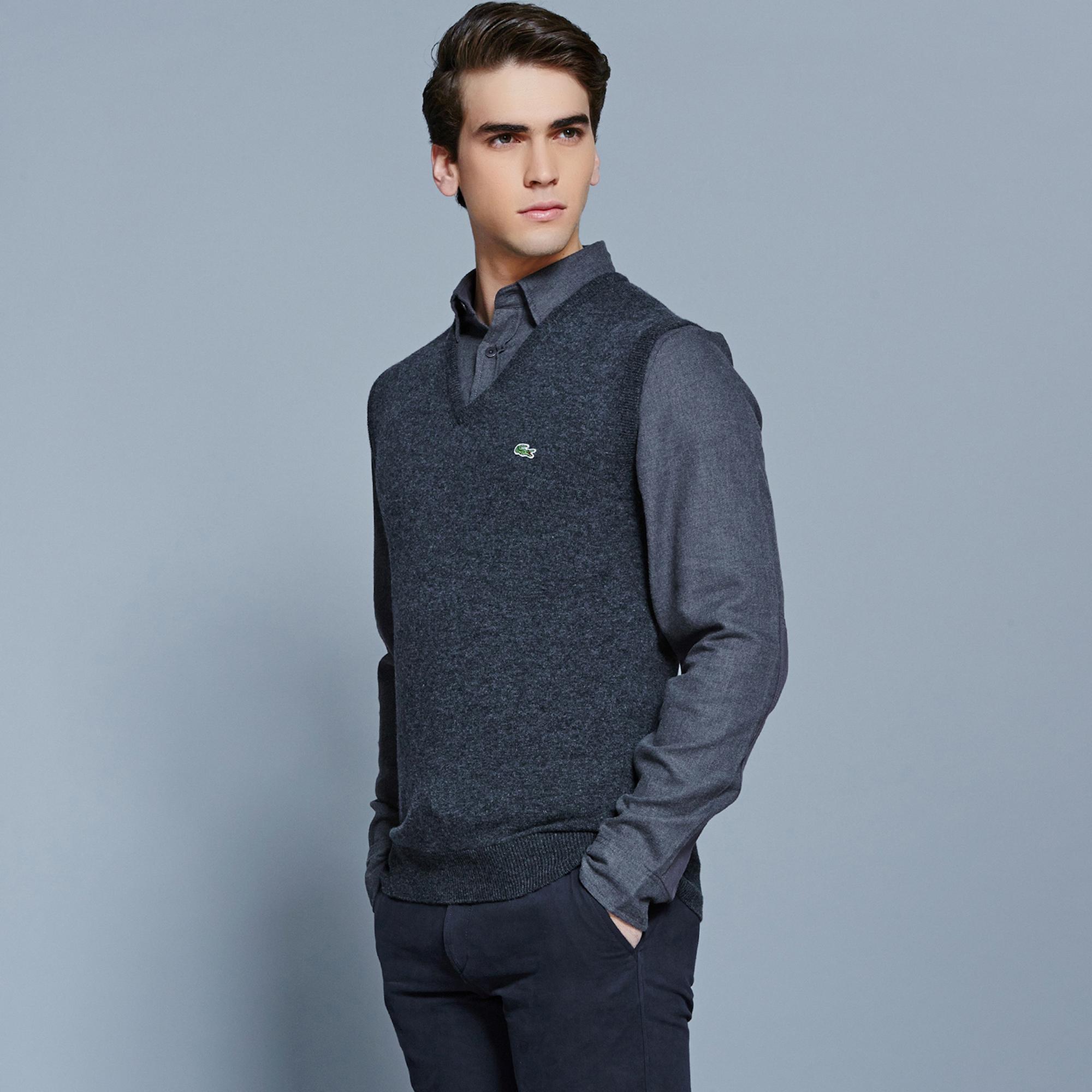 Lacoste светр чоловічий з V-вирізом