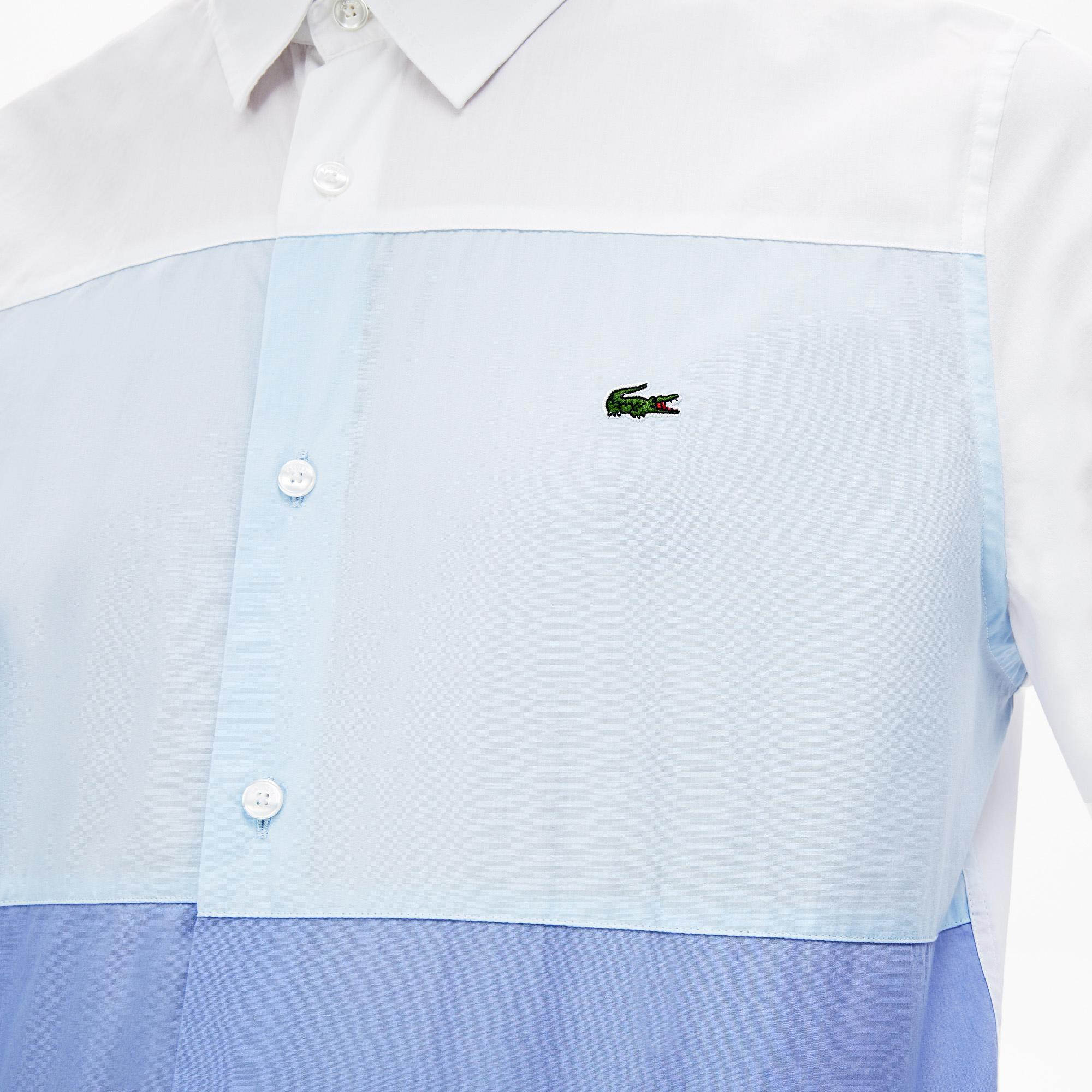 Lacoste Men's Regular Fit Colourblock Cotton Shirt