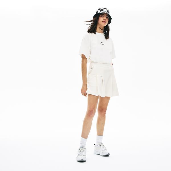 Lacoste Women's LIVE Cotton Piqué Pleated Shorts