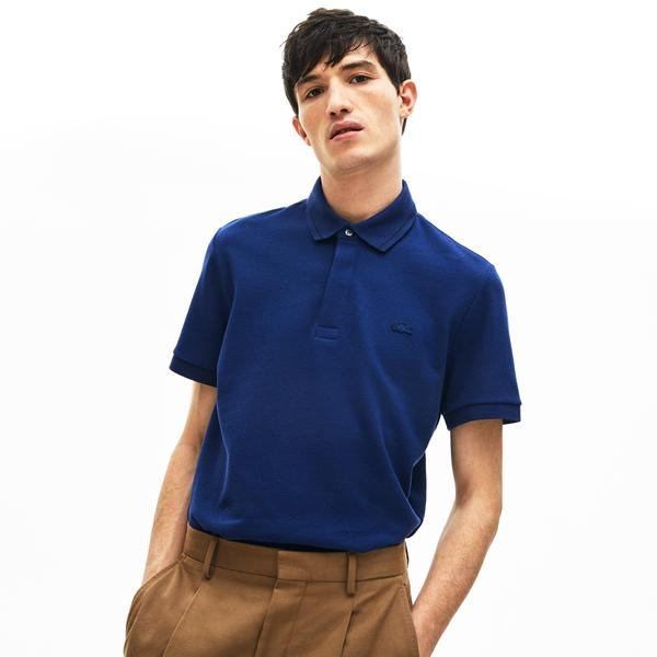 Lacoste Men's Regular Fit Linen And Cotton Blend Polo Shirt