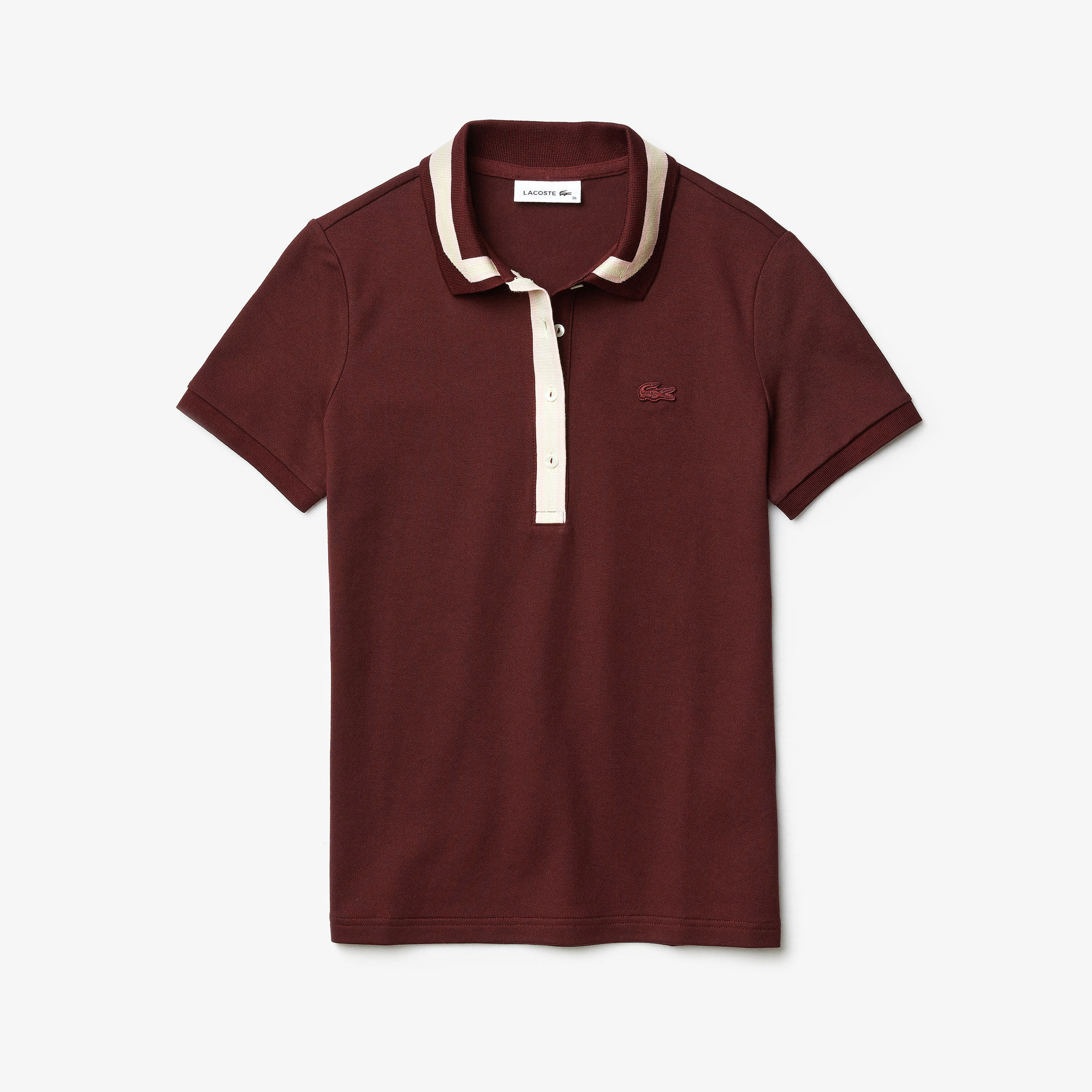 Lacoste Women's Contrast Stretch Cotton Polo Shirt