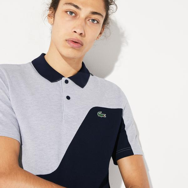 Lacoste Men's Sport Two-Tone Breathable Piqué Golf Polo Shirt