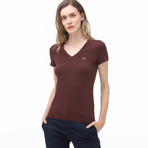 Lacoste Women's V-Neck T-Shirt