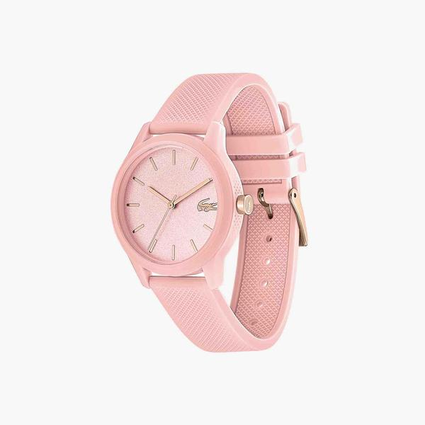 Lacoste.12.12 Ladies Watch with Pink Silicone Petit Piqué Pattern Strap