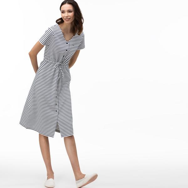 Lacoste сукня жіноча з V-вирізом